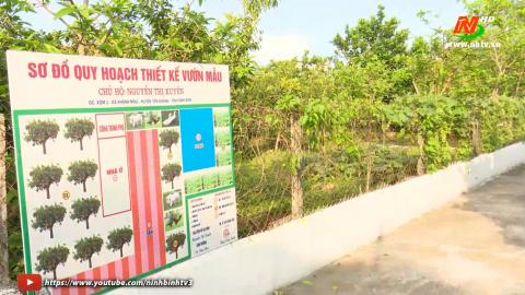 Yên Khánh xây dựng vườn mẫu, nâng tầm chất lượng Nông thôn mới