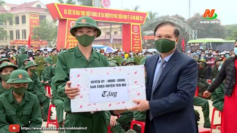 Yên Mô tổ chức lễ giao nhận quân năm 2021